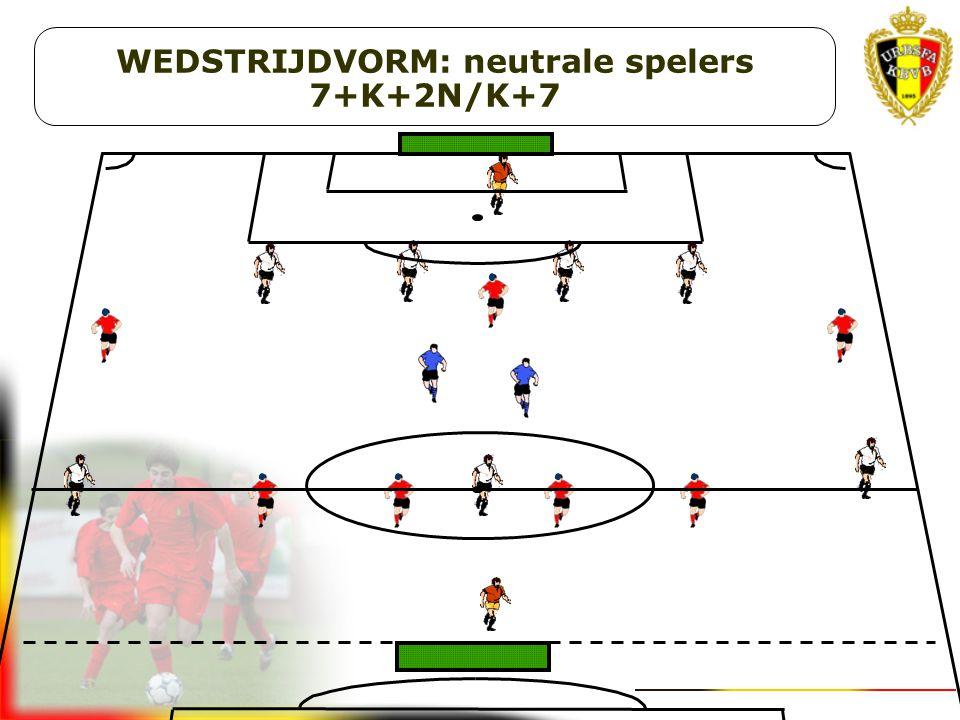 WEDSTRIJDVORM: neutrale spelers 7+K+2N/K+7