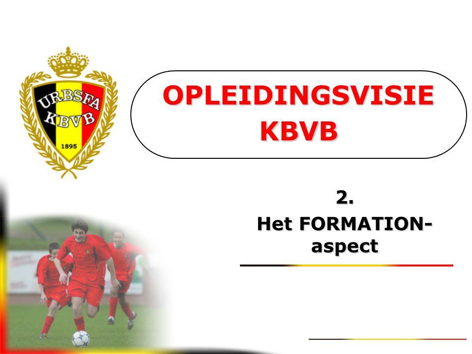 OPLEIDINGSVISIE KBVB 2. Het FORMATION-aspect