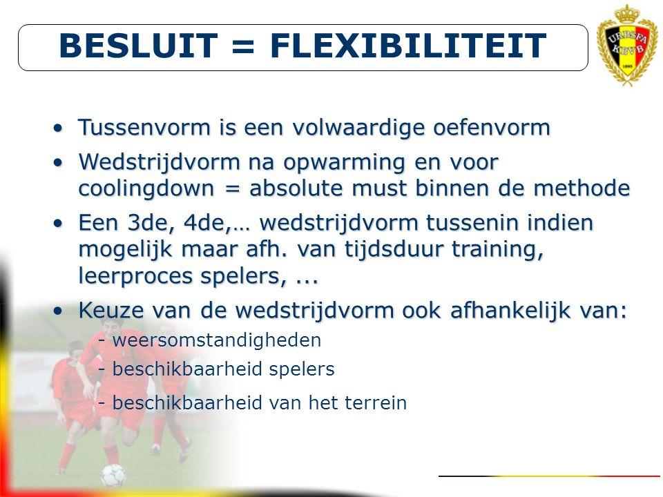 BESLUIT = FLEXIBILITEIT