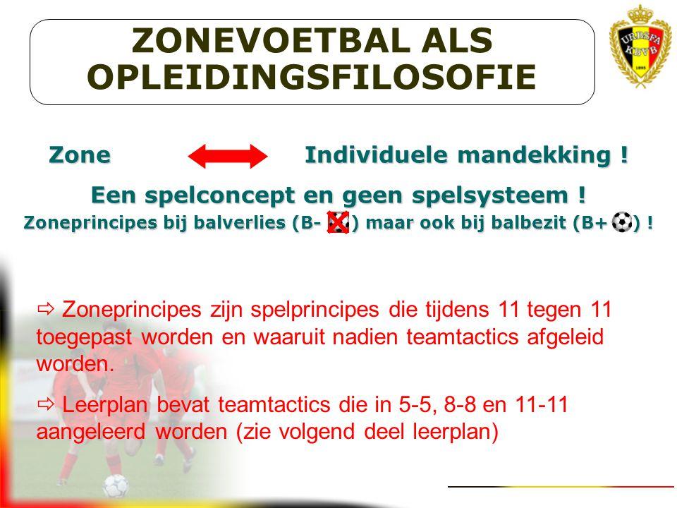 ZONEVOETBAL ALS OPLEIDINGSFILOSOFIE
