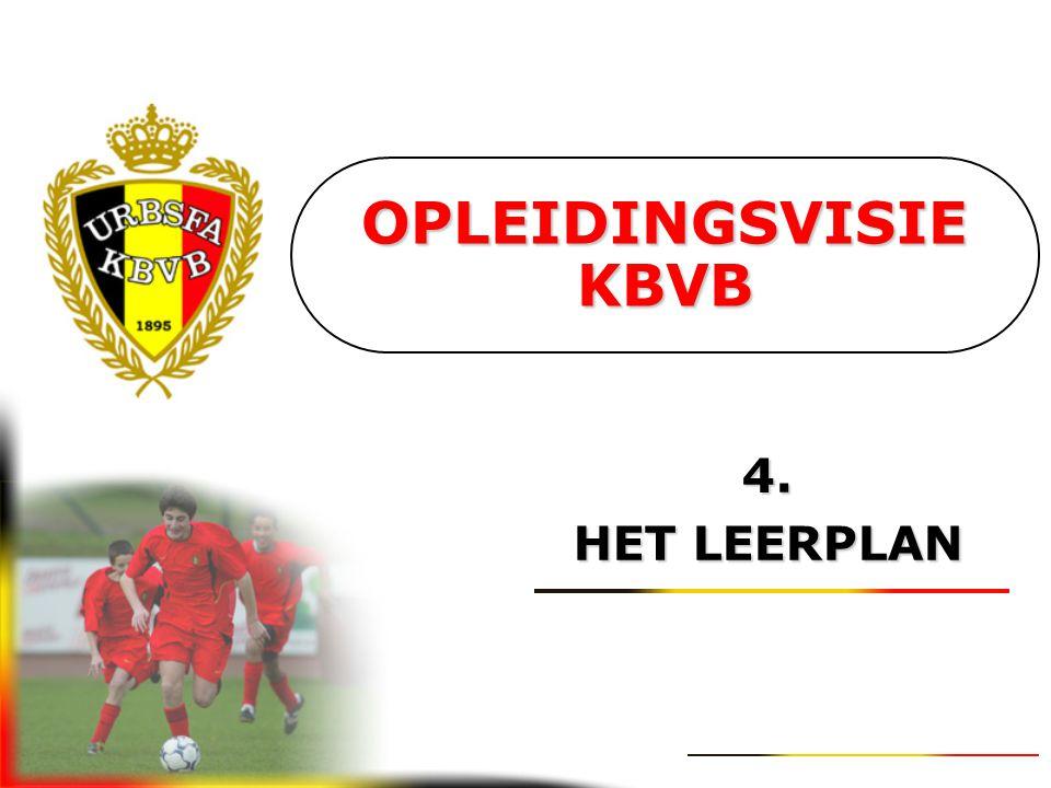 OPLEIDINGSVISIE KBVB 4. HET LEERPLAN