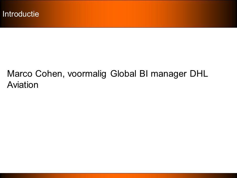 Marco Cohen, voormalig Global BI manager DHL Aviation