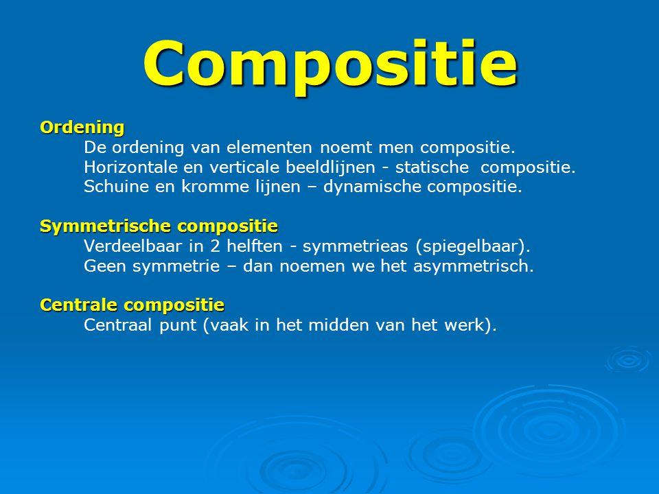 Compositie Ordening De ordening van elementen noemt men compositie.