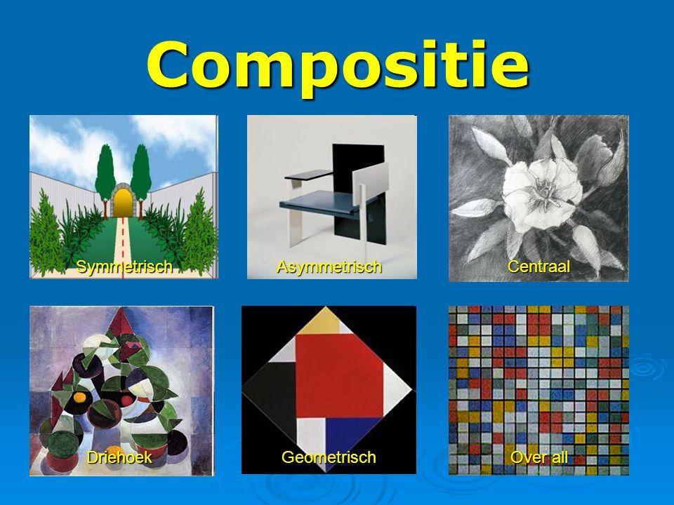 Compositie Symmetrisch Asymmetrisch Centraal Driehoek Geometrisch