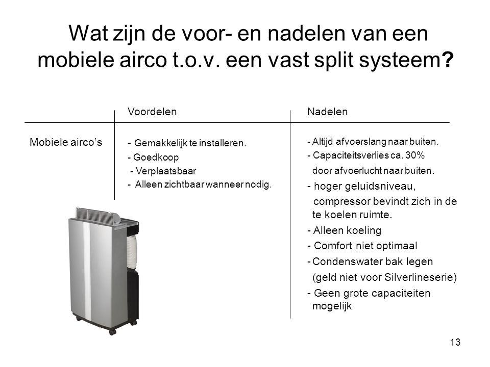 Wat zijn de voor- en nadelen van een mobiele airco t. o. v