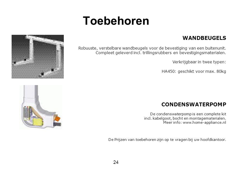 Toebehoren WANDBEUGELS CONDENSWATERPOMP 24