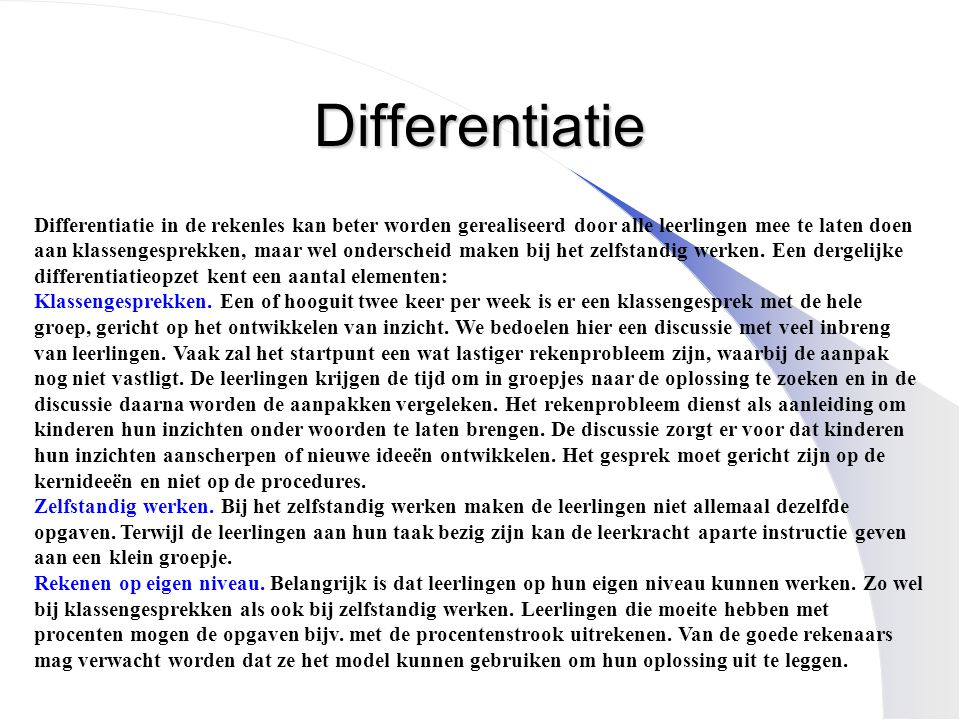 Differentiatie