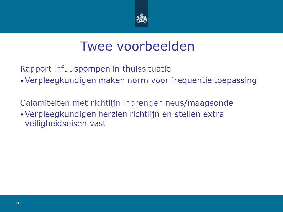 Twee voorbeelden Rapport infuuspompen in thuissituatie