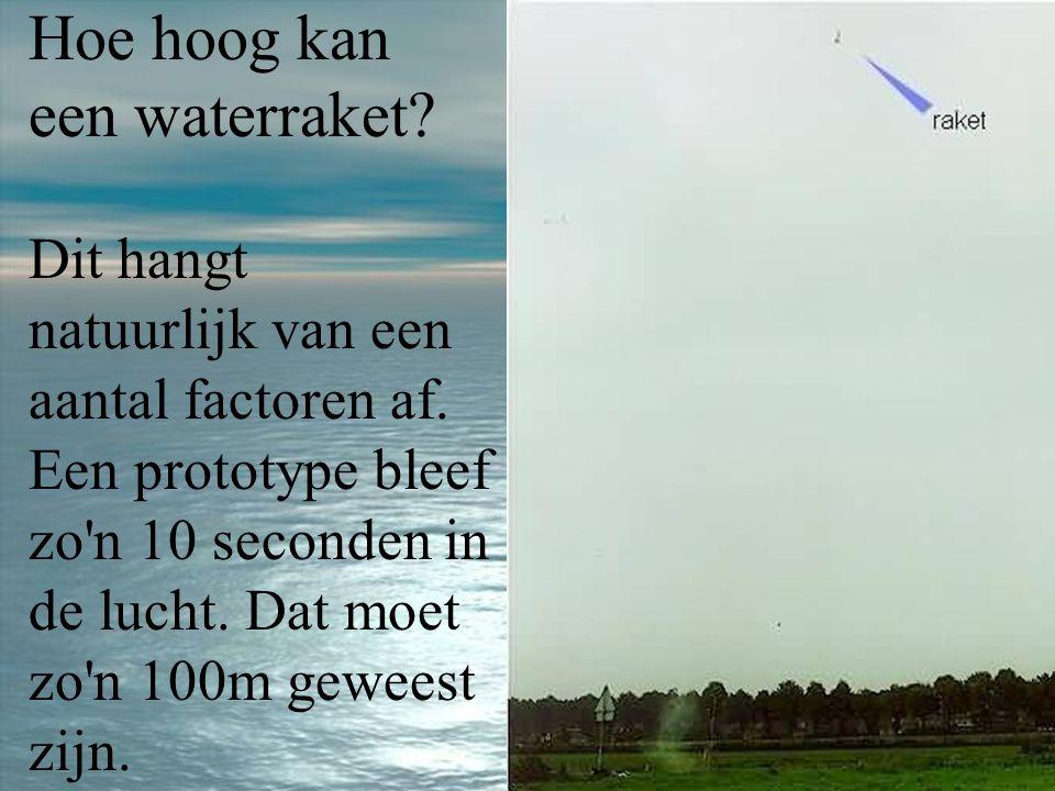 Hoe hoog kan een waterraket