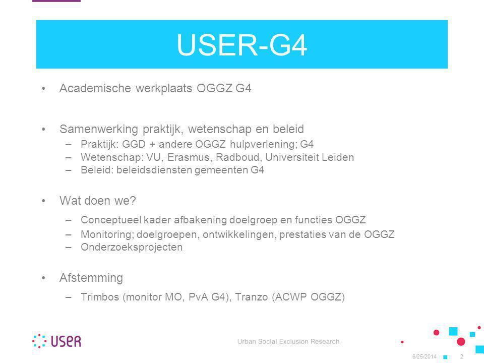 USER-G4 Academische werkplaats OGGZ G4