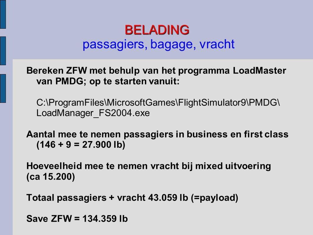 BELADING passagiers, bagage, vracht