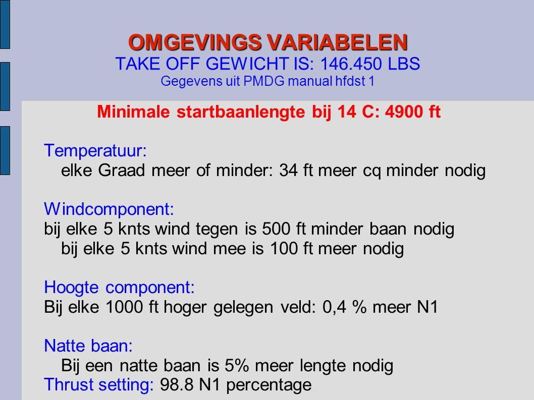 Minimale startbaanlengte bij 14 C: 4900 ft