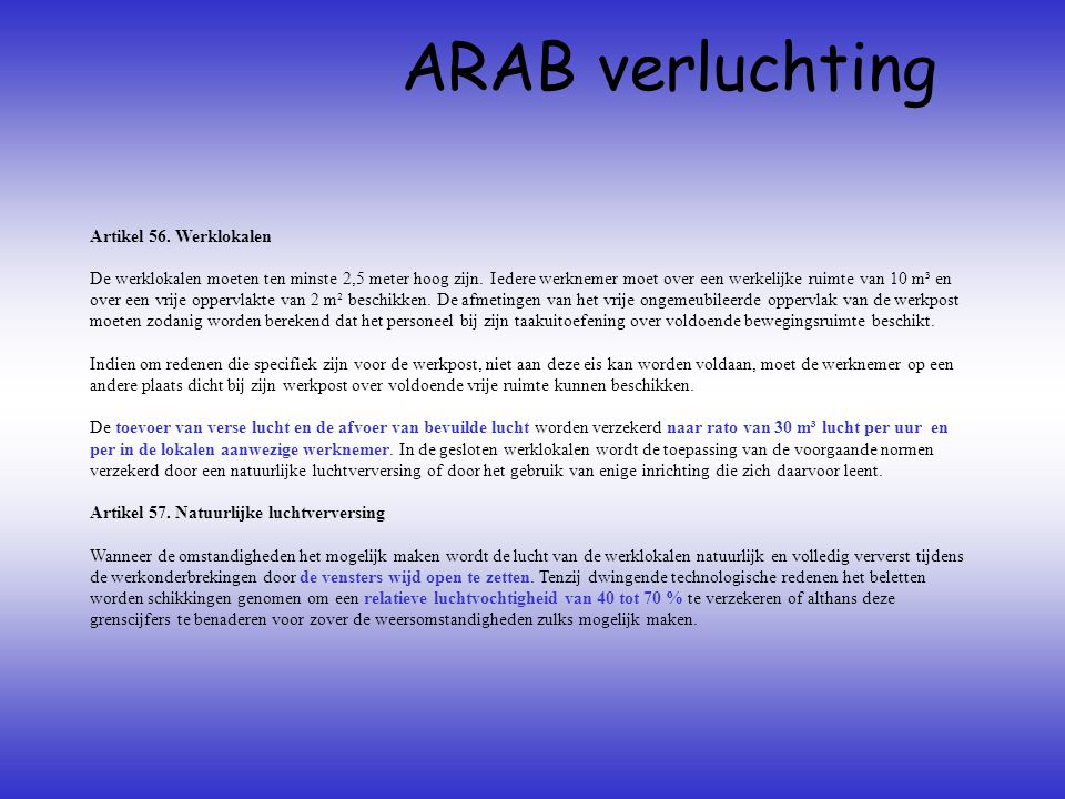 ARAB verluchting