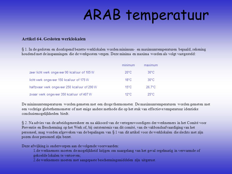 ARAB temperatuur