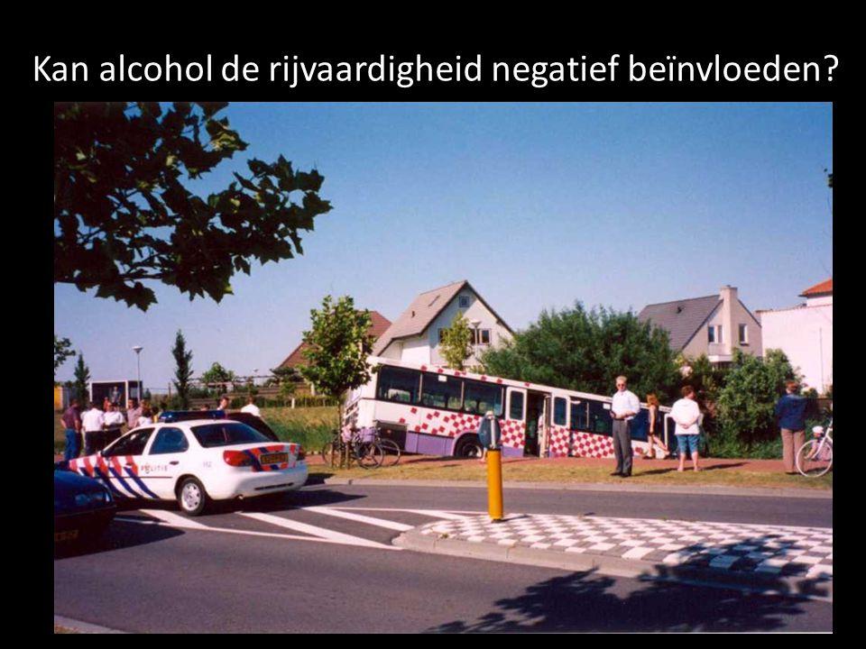 Kan alcohol de rijvaardigheid negatief beïnvloeden