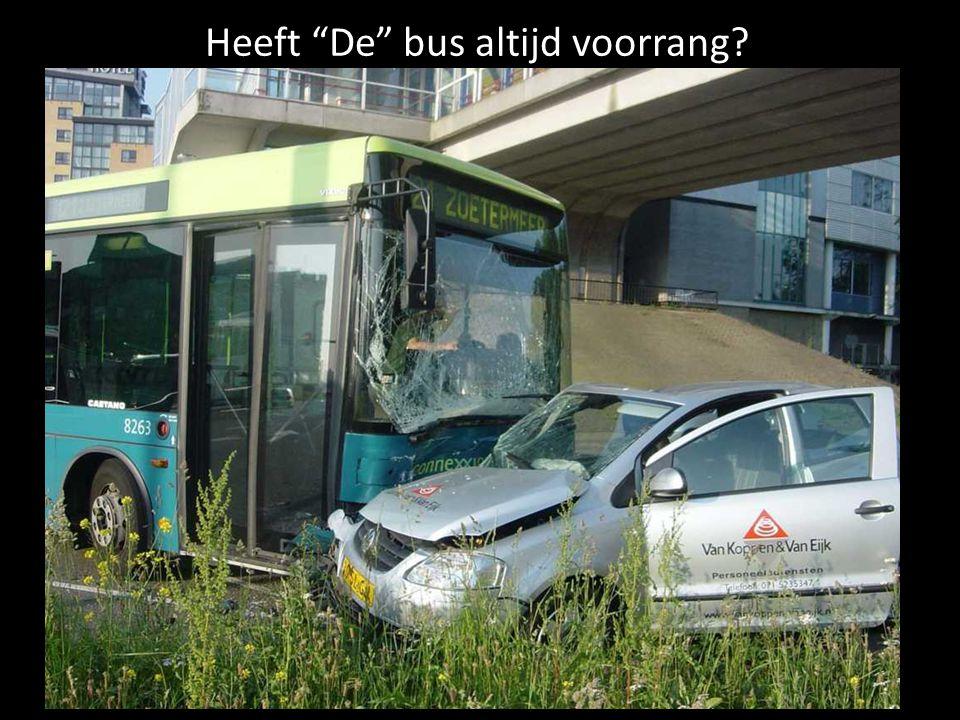 Heeft De bus altijd voorrang