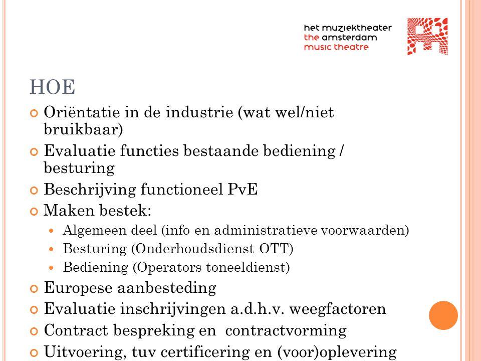 HOE Oriëntatie in de industrie (wat wel/niet bruikbaar)