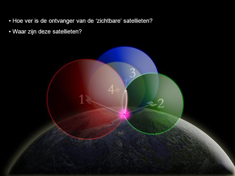 Hoe ver is de ontvanger van de 'zichtbare' satellieten