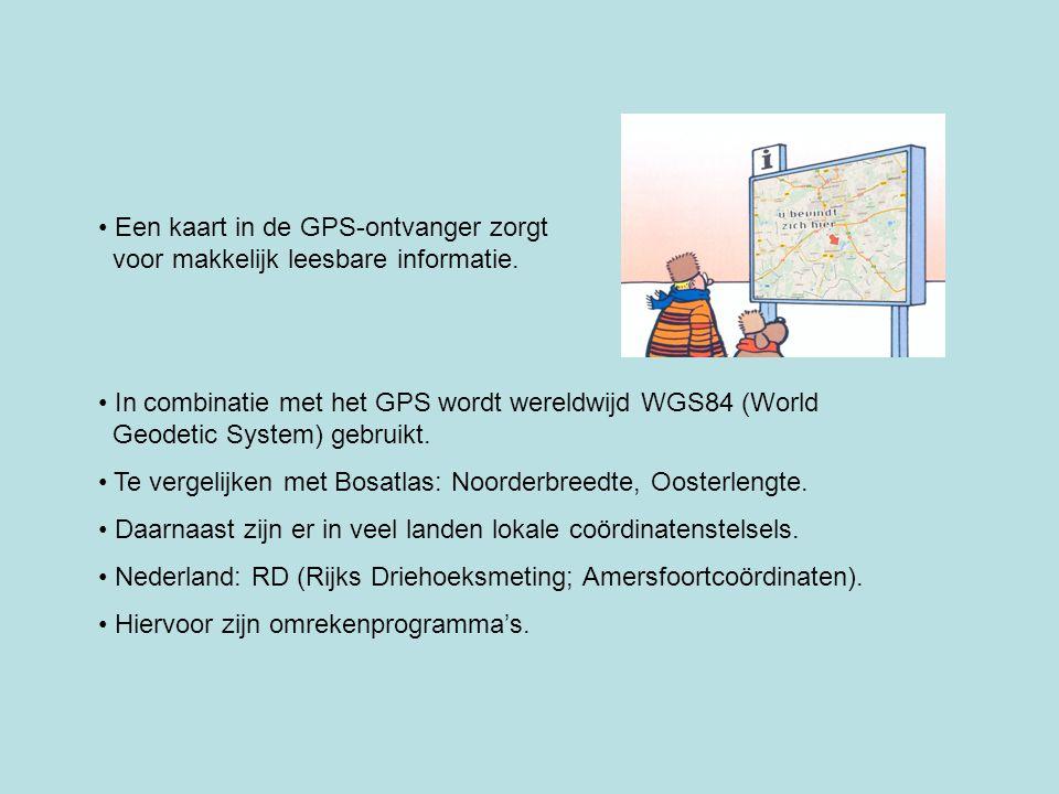 Een kaart in de GPS-ontvanger zorgt voor makkelijk leesbare informatie.