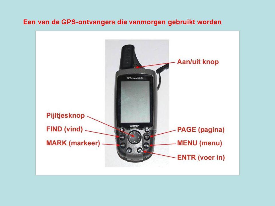 Een van de GPS-ontvangers die vanmorgen gebruikt worden