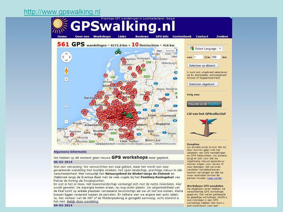 http://www.gpswalking.nl