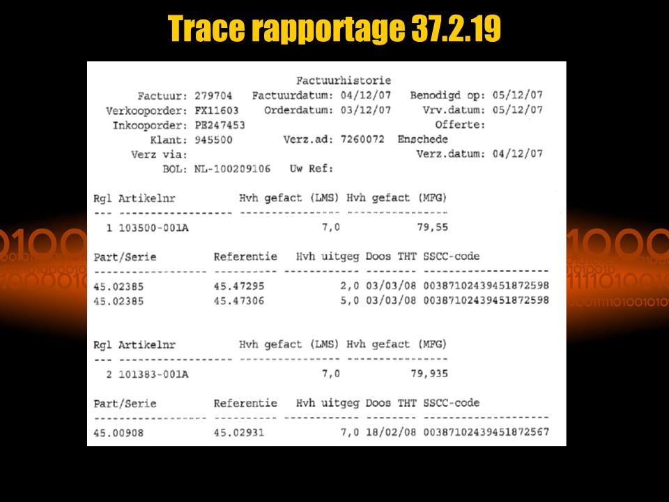 Trace rapportage