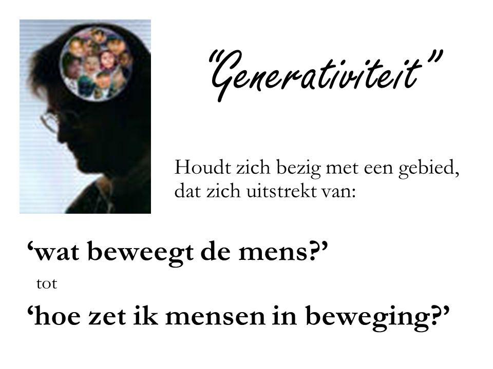 Generativiteit 'wat beweegt de mens '