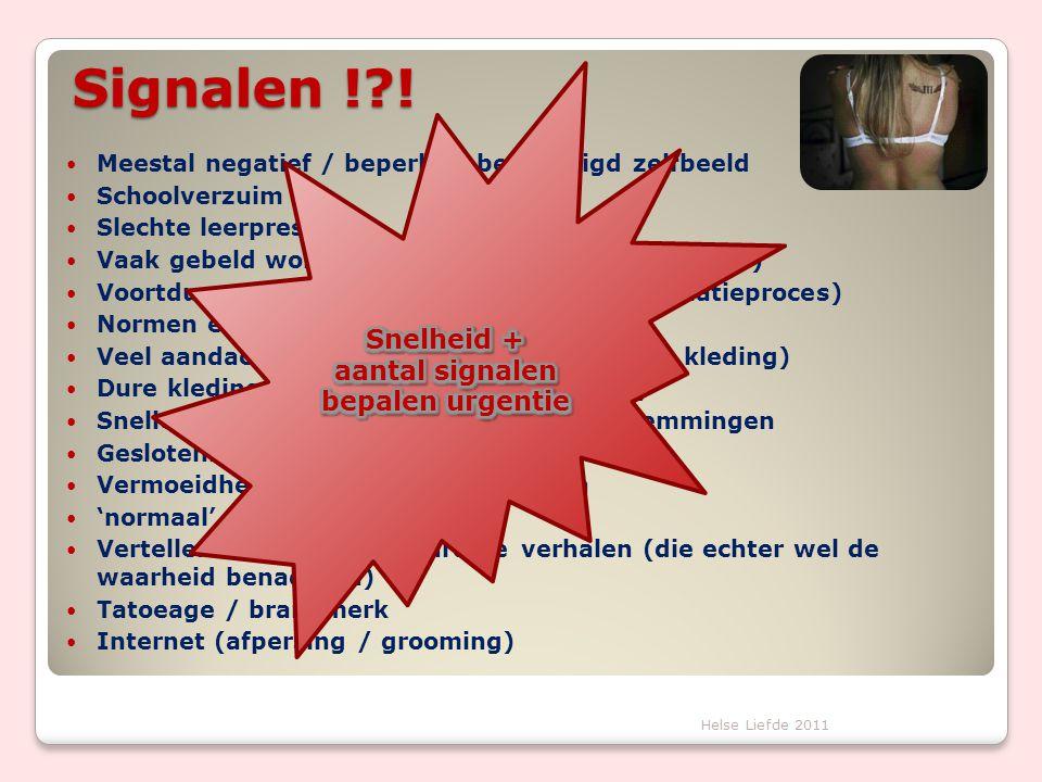 Signalen ! ! Snelheid + aantal signalen bepalen urgentie