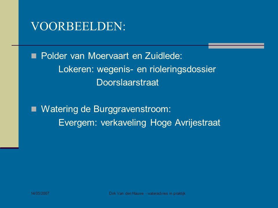 Dirk Van den Hauwe - wateradvies in praktijk