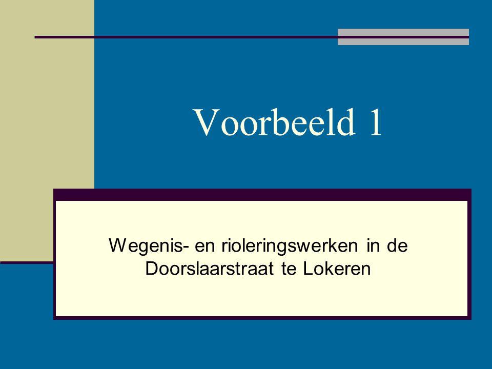 Wegenis- en rioleringswerken in de Doorslaarstraat te Lokeren
