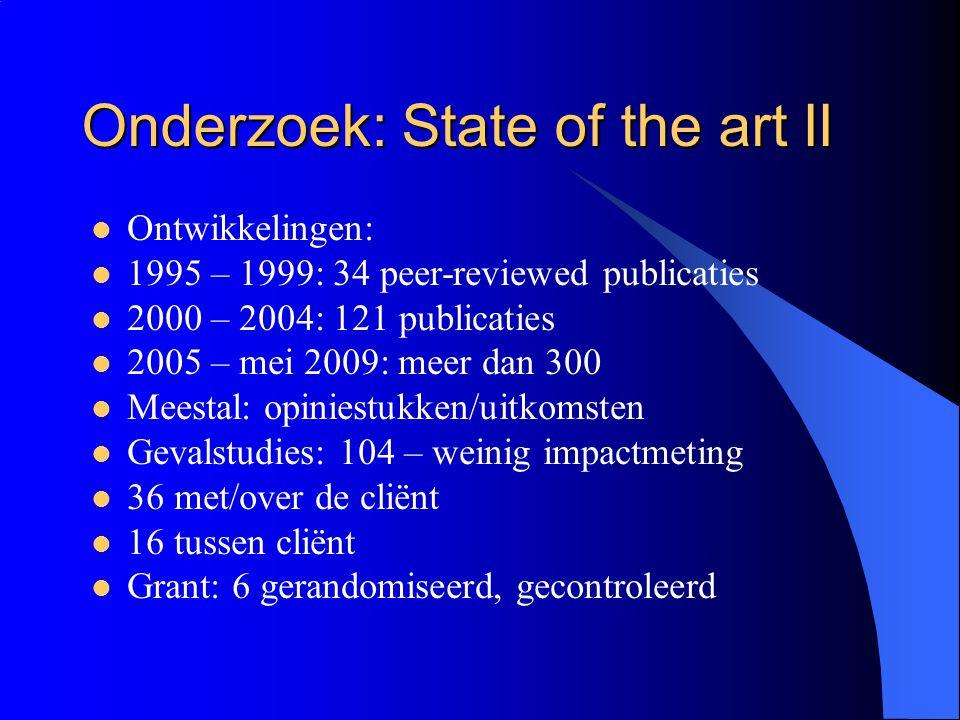 Onderzoek: State of the art II