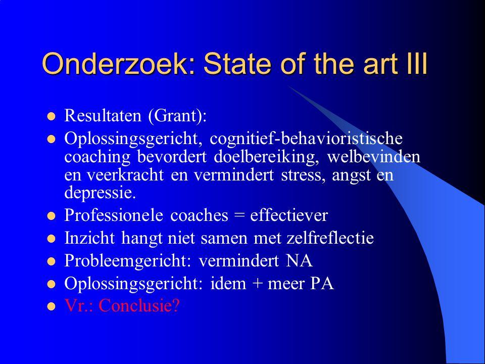 Onderzoek: State of the art III
