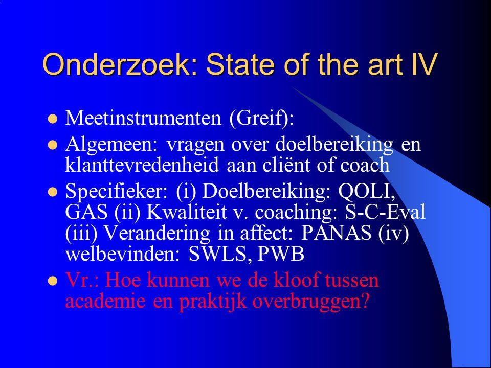 Onderzoek: State of the art IV