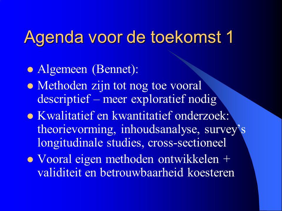 Agenda voor de toekomst 1
