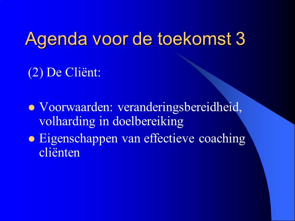 Agenda voor de toekomst 3