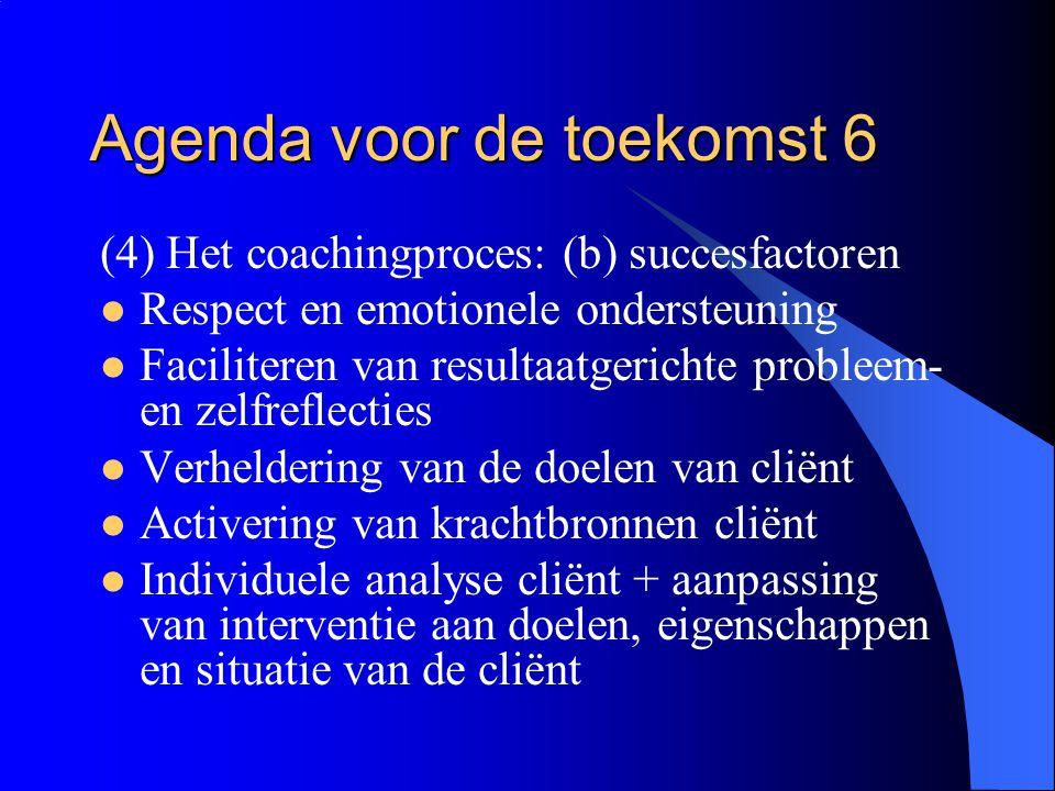 Agenda voor de toekomst 6
