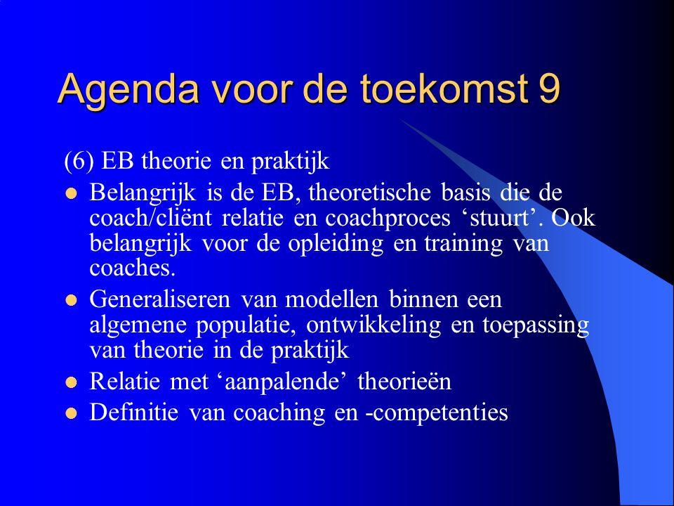 Agenda voor de toekomst 9