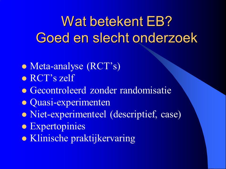 Wat betekent EB Goed en slecht onderzoek