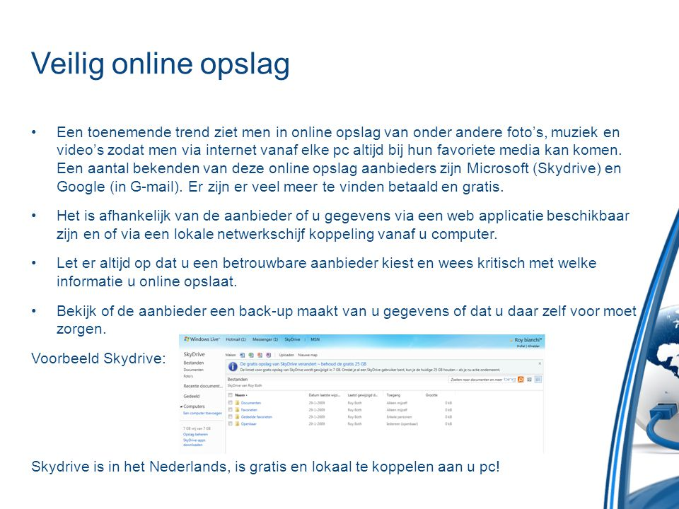 Veilig online opslag