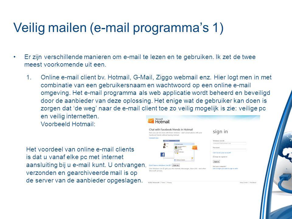 Veilig mailen (e-mail programma's 1)
