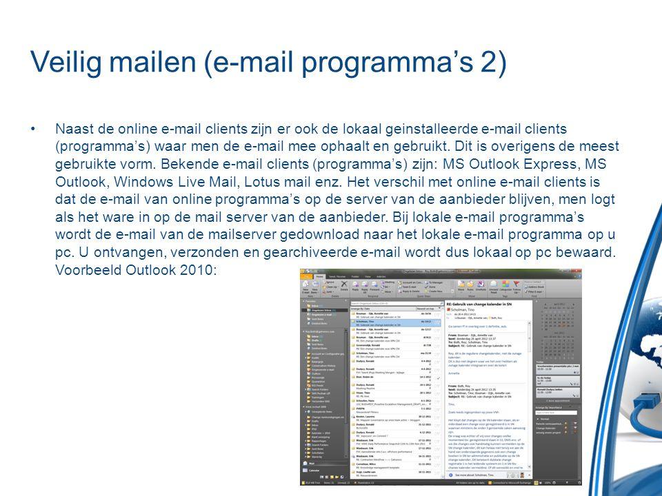 Veilig mailen (e-mail programma's 2)