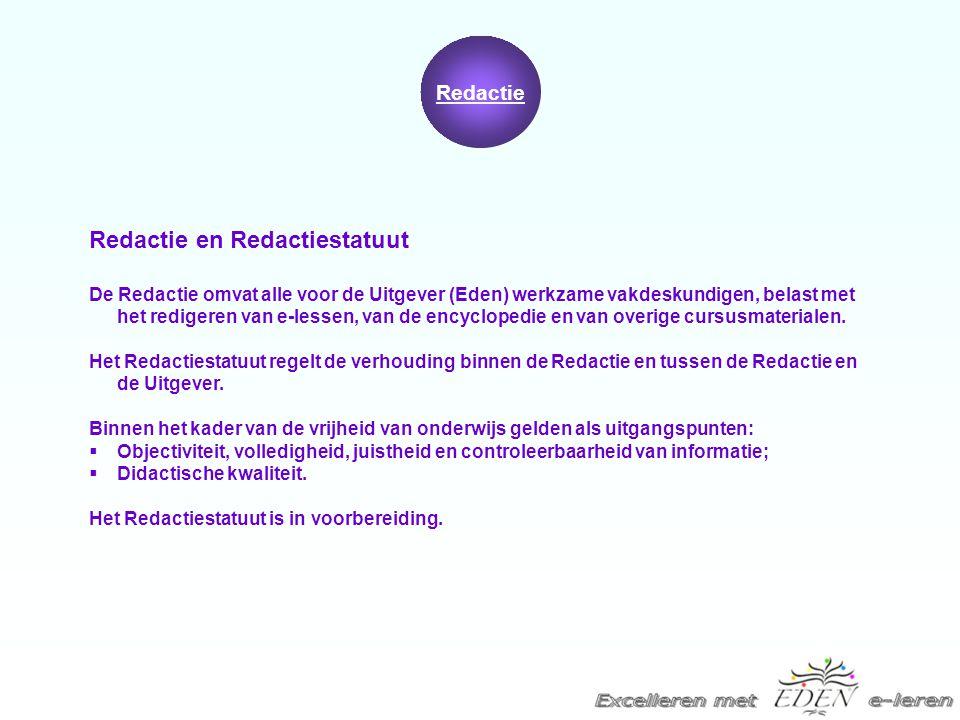 Redactie en Redactiestatuut