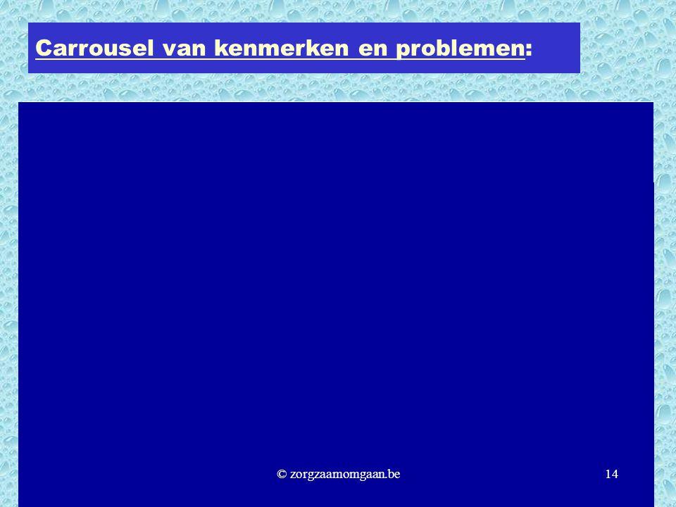 Carrousel van kenmerken en problemen: