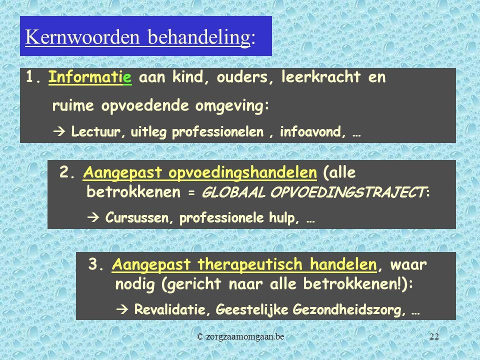 Kernwoorden behandeling: