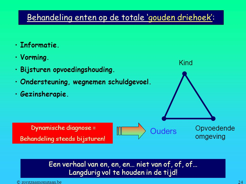 Behandeling enten op de totale 'gouden driehoek':