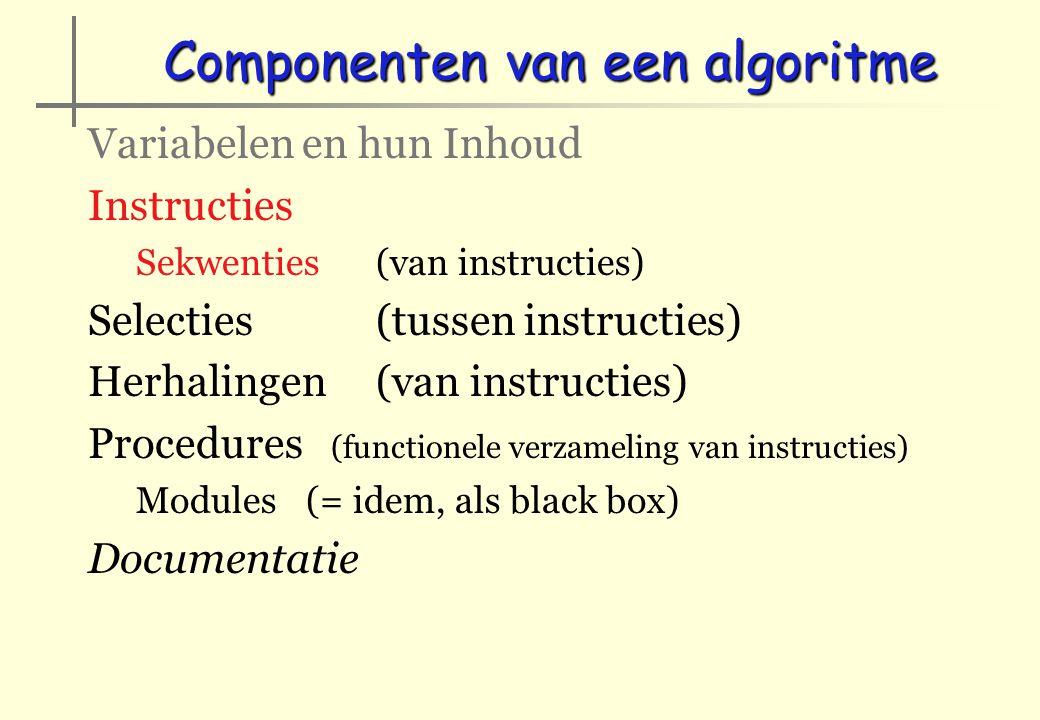 Componenten van een algoritme