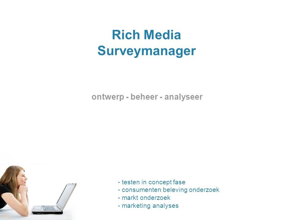 ontwerp - beheer - analyseer