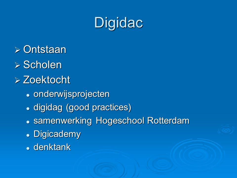 Digidac Ontstaan Scholen Zoektocht onderwijsprojecten