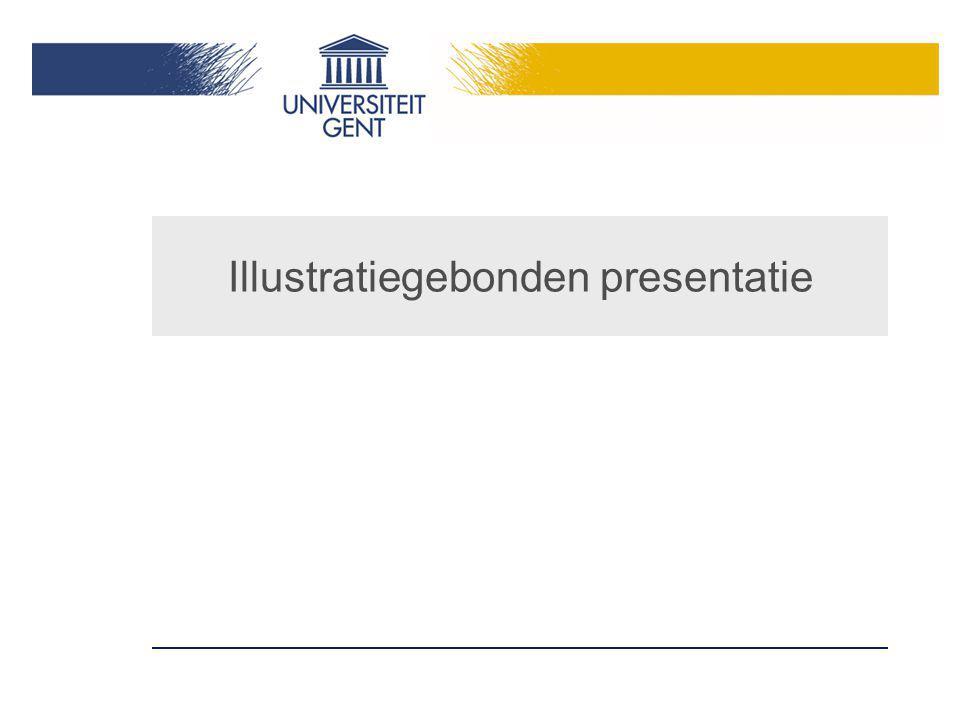 Illustratiegebonden presentatie