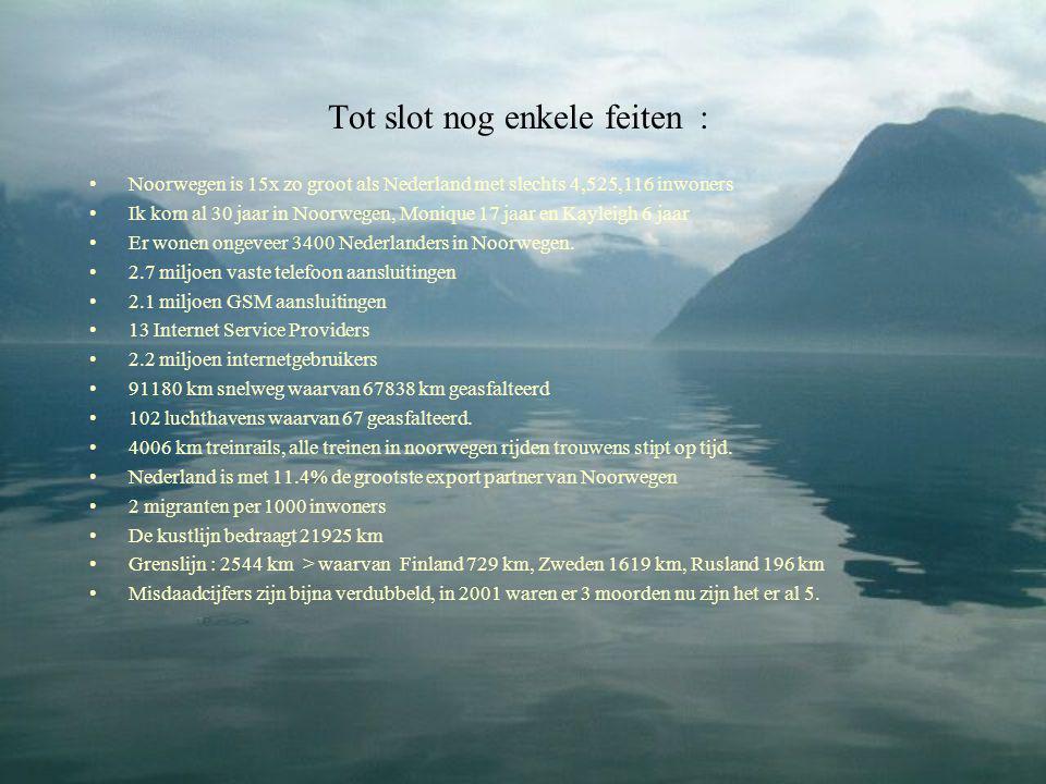 Tot slot nog enkele feiten :